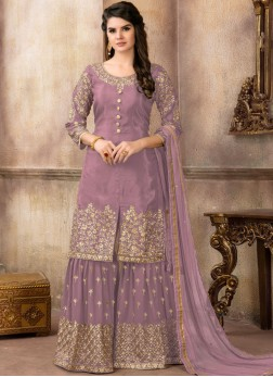 Purple Zari Wedding Designer Pakistani Suit