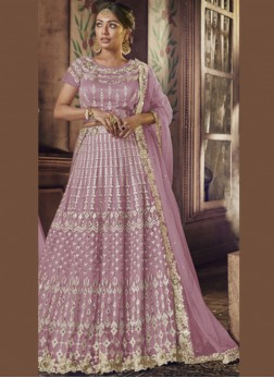 Radiant Net Patch Border Lehenga Choli