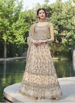 Ravishing Embroidered Net Anarkali Suit