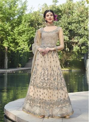 Ravishing Embroidered Net Anarkali Suit