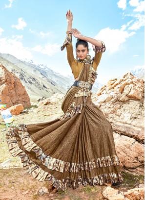 Ravishing Print Lycra Classic Designer Saree