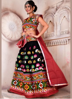 Rayon  Navratri ChaniyaCholi in Multi Colour for garba