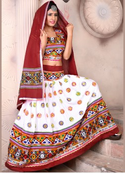 Rayon Multi Colour garba ChaniyaCholi