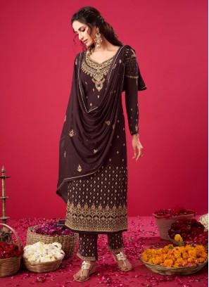 Reception Wear Beautiful Work On Salwar Suit In Black