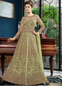 Refreshing Net Embroidered Green Designer Lehenga Choli