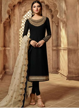 Remarkable Resham Churidar Salwar Kameez