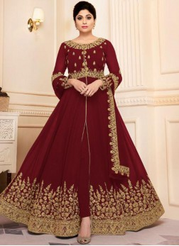 Riveting Designer Shamitta shetty Salwar Suit For Sangeet