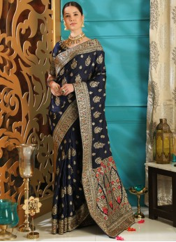 Riveting Embroidered Designer Saree