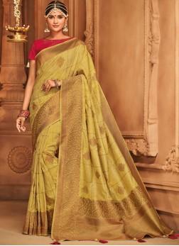 Royal Yellow Traditional Designer Saree