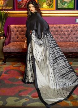 Savory Abstract Print Festival Printed Saree
