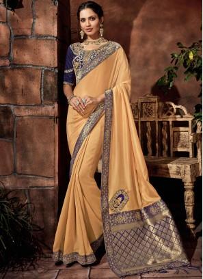 Savory Satin Silk Sangeet Classic Saree