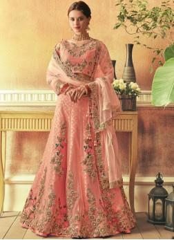 Sensational Embroidered Raw Silk Lehenga Choli