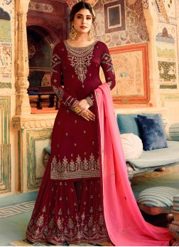 Sensible Designer Palazzo Salwar Kameez For Party