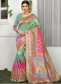 Sensible Weaving Multi Colour Designer Saree