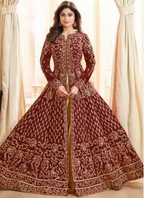 Shamita Shetty Long Choli Lehenga