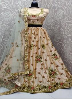 Silk Embroidered Designer Lehenga Choli