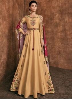 Snazzy Embroidered Sangeet Anarkali Salwar Suit