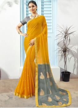 Snazzy Printed Saree For Festival
