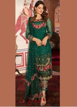 Sophisticated Faux Georgette Ceremonial Designer Pakistani Suit
