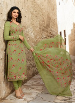 Sorcerous Abstract Print Prachi Desai Churidar Designer Suit
