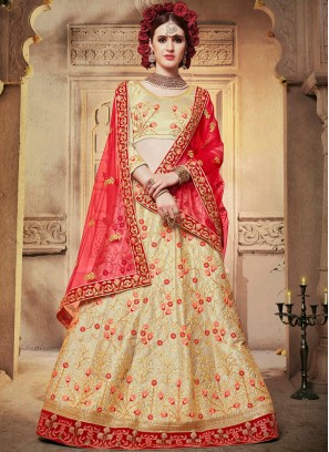 Specialised Cream Designer Lehenga Choli
