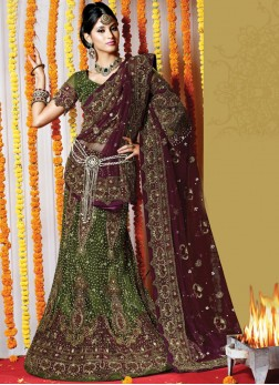 Specialised Net Febric Fancy Bridal Lehenga Ch