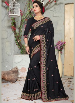Spectacular Black Wedding Designer Traditional Saree