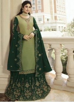 Spectacular Green Designer Lehenga Choli