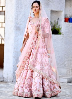 Splendid Pink Wedding Lehenga Choli