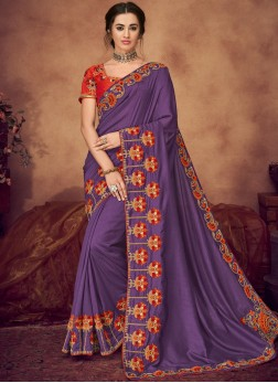 Staring Embroidered Designer Saree