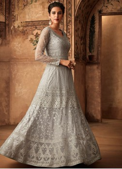 Staring Embroidered Reception Floor Length Anarkali Suit