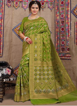 Staring Fancy Fabric Festival Designer Traditional Saree