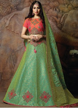 Sterling Embroidered Silk Designer Lehenga Choli