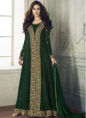 Sterling Resham Green Designer Salwar Kameez