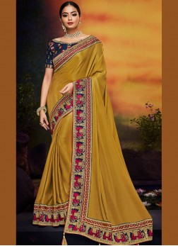 Strange Art Silk Ceremonial Traditional Saree