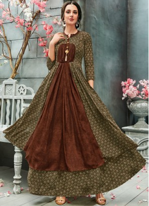 Strange Faux Georgette Readymade Gown