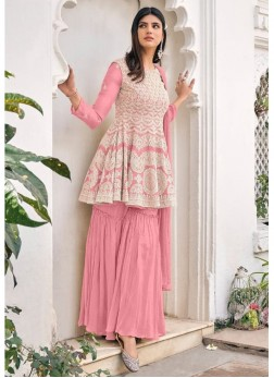 Stunning  Viscose Georgette Embroidery Salwar kame
