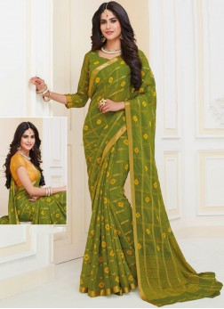 Stupendous Art Silk Weaving Green Saree