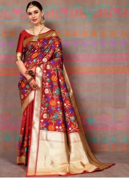 Subtle Traditional Designer Saree For Ceremonial