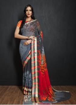 Sumptuous Multi Colour Fancy Fabric Printed Saree