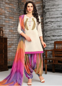Sunshine Art Silk Designer Patiala Suit