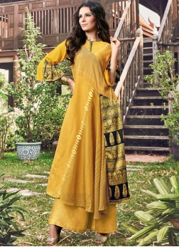 Sunshine Fancy Fabric Party Wear Kurti