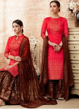 Superb Art Silk Print Designer Pakistani Suit