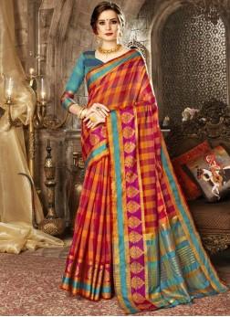 Superb Woven Multi Colour Traditional Saree