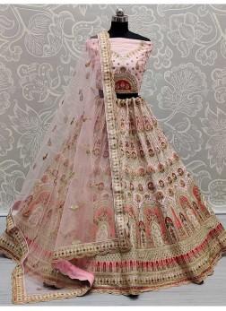 Superbly Dori Work On Silk Wedding Lehenga Choli I