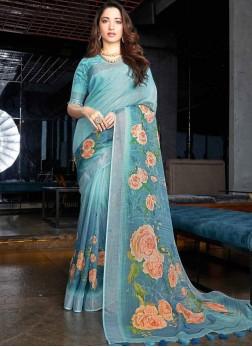 Tamannaah Bhatia Linen Festival Printed Saree