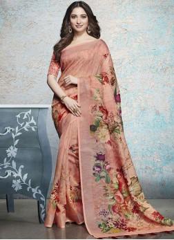 Tamannaah Bhatia Linen Printed Saree