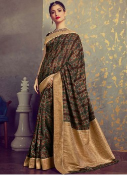 Tamannaah Bhatia Multi Colour Art Silk Traditional Designer Saree