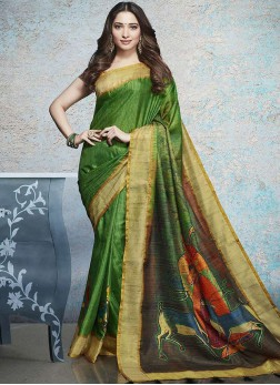 Tamannaah Bhatia Multi Colour Printed Saree
