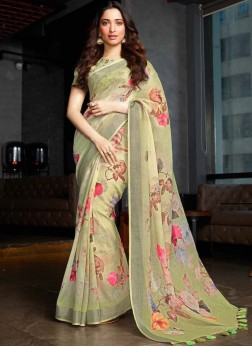 Tamannaah Bhatia Printed Saree For Ceremonial